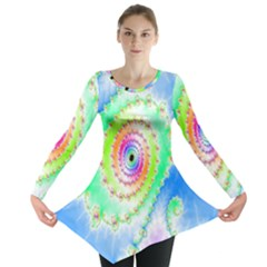 Decorative Fractal Spiral Long Sleeve Tunic