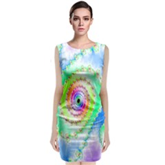 Decorative Fractal Spiral Classic Sleeveless Midi Dress
