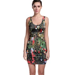 Colorful Abstract Background Sleeveless Bodycon Dress