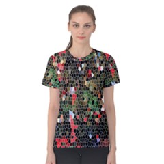 Colorful Abstract Background Women s Cotton Tee
