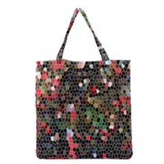 Colorful Abstract Background Grocery Tote Bag