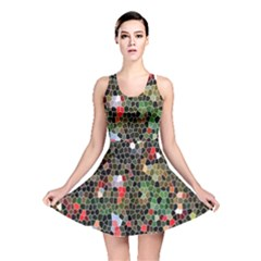 Colorful Abstract Background Reversible Skater Dress