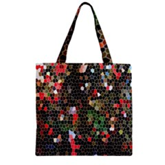 Colorful Abstract Background Zipper Grocery Tote Bag