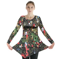 Colorful Abstract Background Long Sleeve Tunic