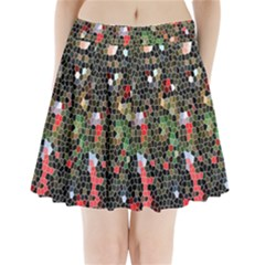 Colorful Abstract Background Pleated Mini Skirt