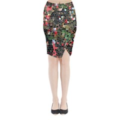Colorful Abstract Background Midi Wrap Pencil Skirt