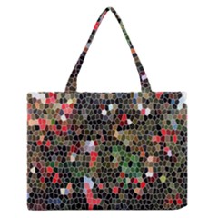 Colorful Abstract Background Medium Zipper Tote Bag
