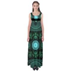 Grand Julian Fractal Empire Waist Maxi Dress