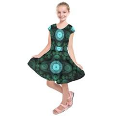 Grand Julian Fractal Kids  Short Sleeve Dress