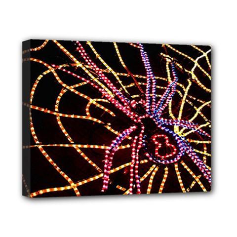 Black Widow Spider, Yellow Web Canvas 10  x 8