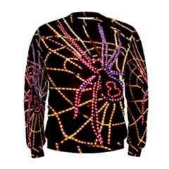 Black Widow Spider, Yellow Web Men s Sweatshirt