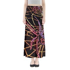 Black Widow Spider, Yellow Web Maxi Skirts