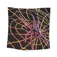 Black Widow Spider, Yellow Web Square Tapestry (small)