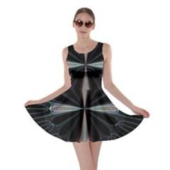 Fractal Rays Skater Dress