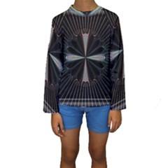 Fractal Rays Kids  Long Sleeve Swimwear