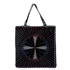 Fractal Rays Grocery Tote Bag