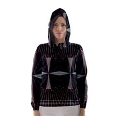 Fractal Rays Hooded Wind Breaker (Women)