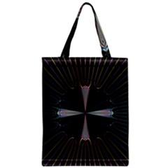 Fractal Rays Zipper Classic Tote Bag