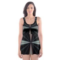 Fractal Rays Skater Dress Swimsuit