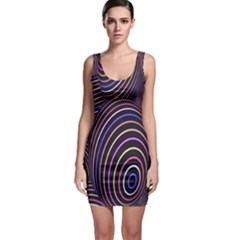 Abstract Colorful Spheres Sleeveless Bodycon Dress
