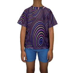 Abstract Colorful Spheres Kids  Short Sleeve Swimwear