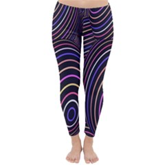 Abstract Colorful Spheres Classic Winter Leggings