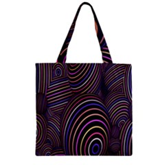 Abstract Colorful Spheres Zipper Grocery Tote Bag