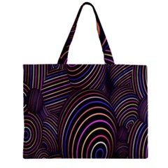 Abstract Colorful Spheres Zipper Mini Tote Bag