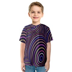 Abstract Colorful Spheres Kids  Sport Mesh Tee