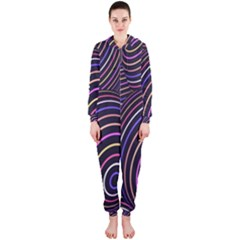 Abstract Colorful Spheres Hooded Jumpsuit (Ladies)