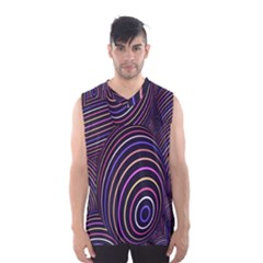 Abstract Colorful Spheres Men s Basketball Tank Top