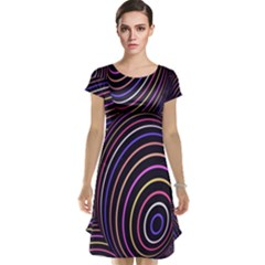 Abstract Colorful Spheres Cap Sleeve Nightdress