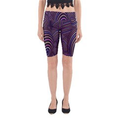 Abstract Colorful Spheres Yoga Cropped Leggings