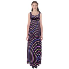 Abstract Colorful Spheres Empire Waist Maxi Dress