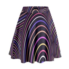 Abstract Colorful Spheres High Waist Skirt