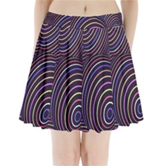 Abstract Colorful Spheres Pleated Mini Skirt