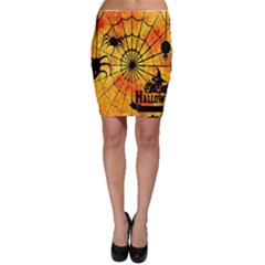 Halloween Weird  Surreal Atmosphere Bodycon Skirt