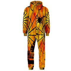 Halloween Weird  Surreal Atmosphere Hooded Jumpsuit (Men)