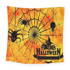 Halloween Weird  Surreal Atmosphere Square Tapestry (large)