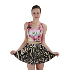 Wallpaper Texture Pattern Design Ornate Abstract Mini Skirt