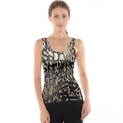 Wallpaper Texture Pattern Design Ornate Abstract Tank Top