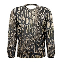 Wallpaper Texture Pattern Design Ornate Abstract Men s Long Sleeve Tee