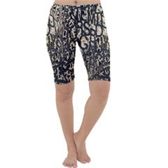 Wallpaper Texture Pattern Design Ornate Abstract Cropped Leggings