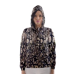 Wallpaper Texture Pattern Design Ornate Abstract Hooded Wind Breaker (Women)