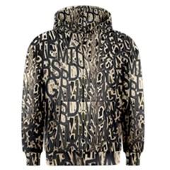 Wallpaper Texture Pattern Design Ornate Abstract Men s Zipper Hoodie