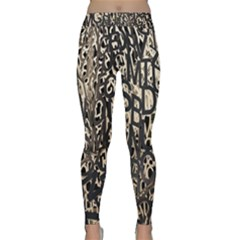 Wallpaper Texture Pattern Design Ornate Abstract Classic Yoga Leggings