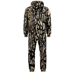 Wallpaper Texture Pattern Design Ornate Abstract Hooded Jumpsuit (Men)