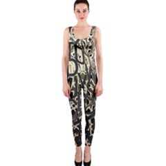 Wallpaper Texture Pattern Design Ornate Abstract Onepiece Catsuit