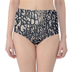 Wallpaper Texture Pattern Design Ornate Abstract High-Waist Bikini Bottoms