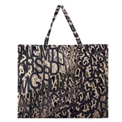 Wallpaper Texture Pattern Design Ornate Abstract Zipper Large Tote Bag